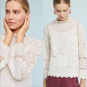 James Coviello Alice Ivory Lace Blouse